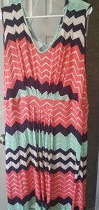 Chevron sleeveless summer dress